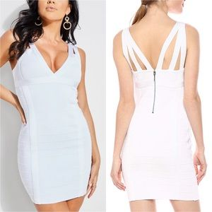 Guess Strappy Bandage Mini Dress White Large
